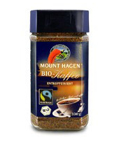 Mount Hagen instant kávé koffeinmentes, Fair Trade