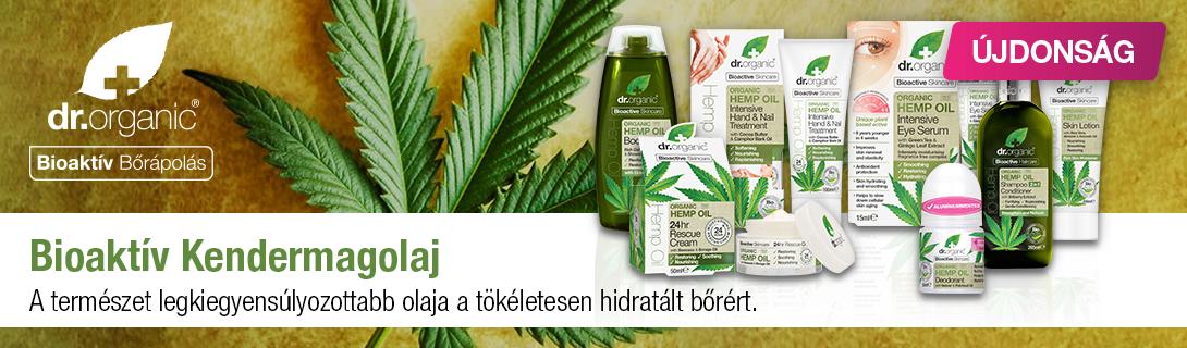 Dr. Organic Kendermagolaj termékcsalád